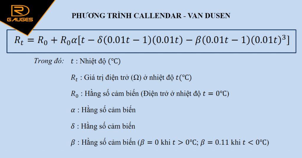 Phương trình Callendar - Van Dusen