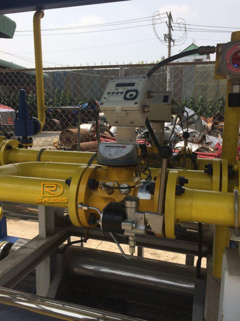 Đồng hồ đo lưu lượng turbin tại trạm phân gối khí LPG